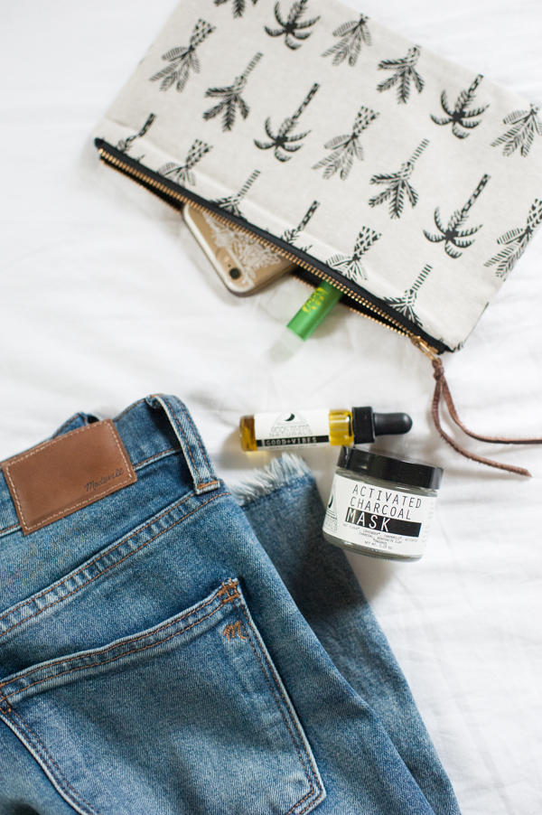 Jeans and Zipper Pouch